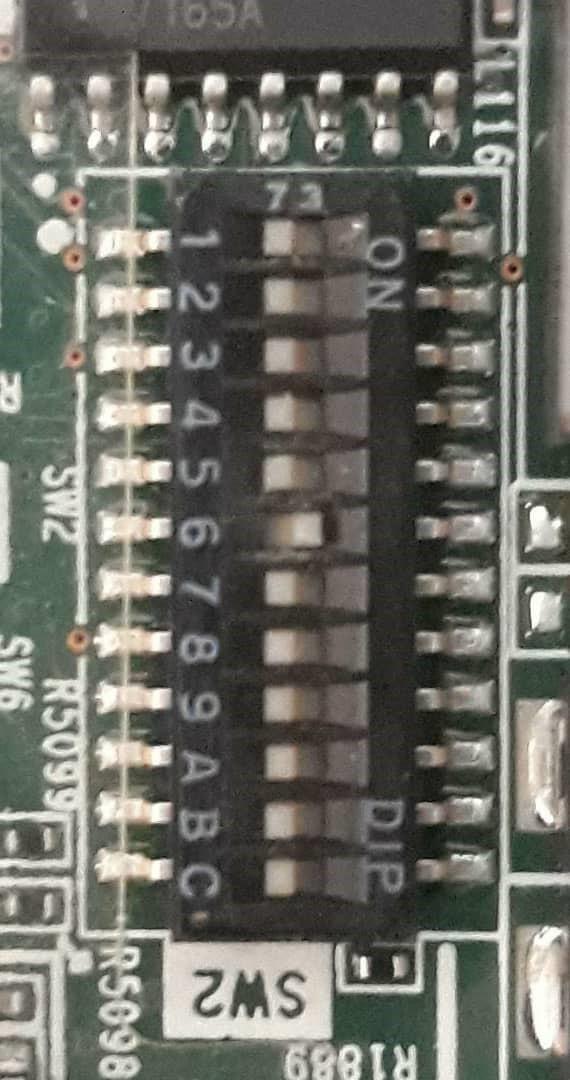 بررسی کلید های سیستم نگهداری System Maintenance Switch