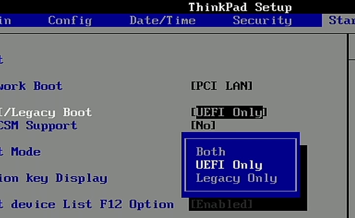 تفاوت های میان UEFI و Legacy Boot