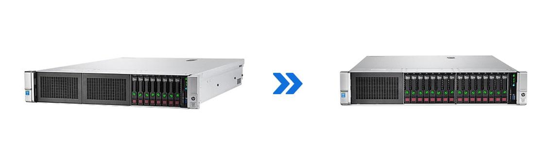 پکیج تبدیل سرور DL380 G9 8SFF به DL380 G9 16SFF